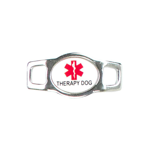 Public Service Oval Charm - Therapy Dog (Red)