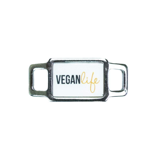 Vegan Rectangle Charm - Orange