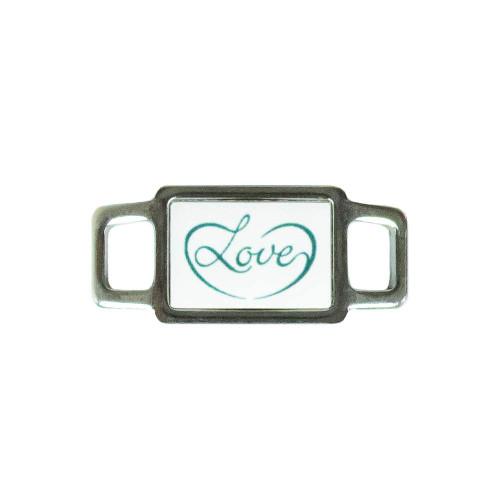 Awareness Rectangle Charm - Love