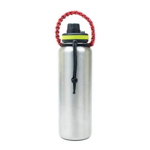 Water Bottle Handle - Red on Bottle
