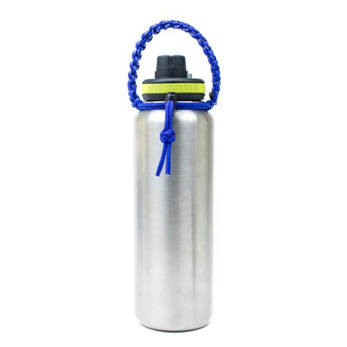 Water Bottle Handle - Blue on Bottle