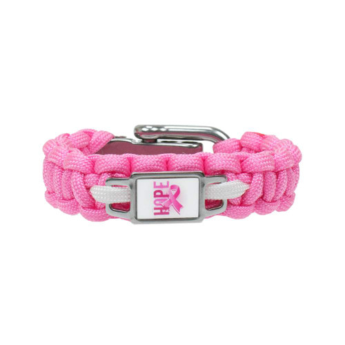 Breast Cancer Awareness - Cobra Bracelet w/Charm
