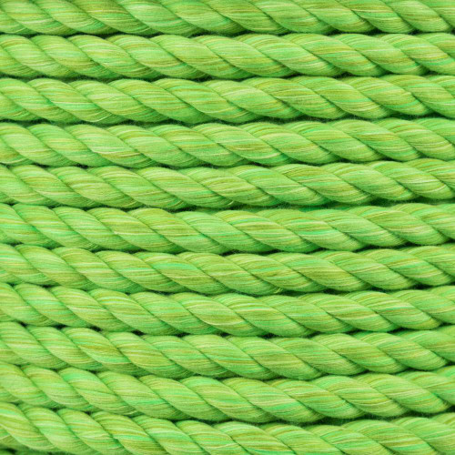 3-Strand Twisted Cotton 1/2 in Rope - Lime