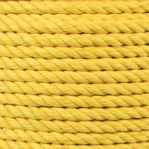 3-Strand Twisted Cotton 1/2 in Rope - Gold