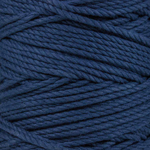 3-Strand Twisted Cotton 1/4 in Rope - Navy