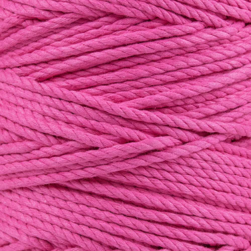 3-Strand Twisted Cotton 1/4 in Rope - Hot Pink