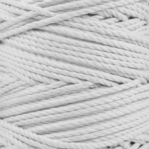 3-Strand Twisted Cotton 1/4 in Rope - White
