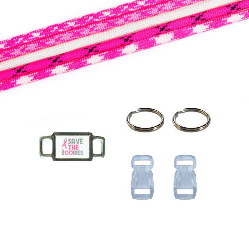 Breast Cancer Awareness Paracord Crafting Kit #6