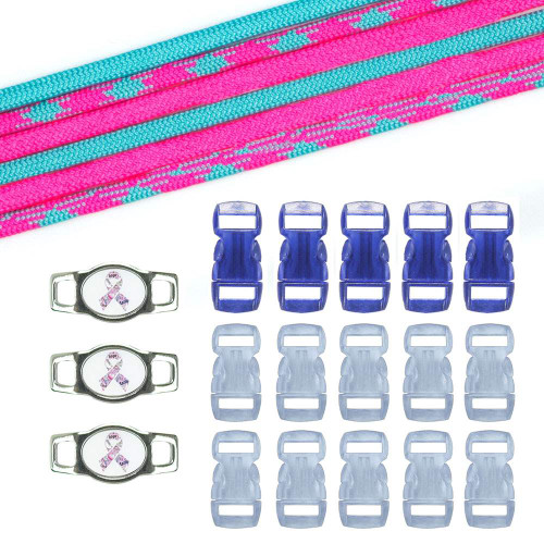 Breast Cancer Awareness Paracord Crafting Kit #7
