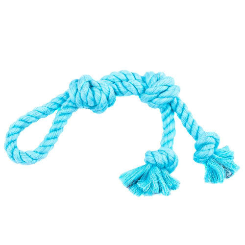 Large Looped Rope Tug Toy - Aqua