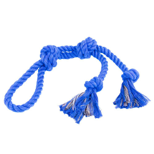 Large Looped Rope Tug Toy - Royal Blue