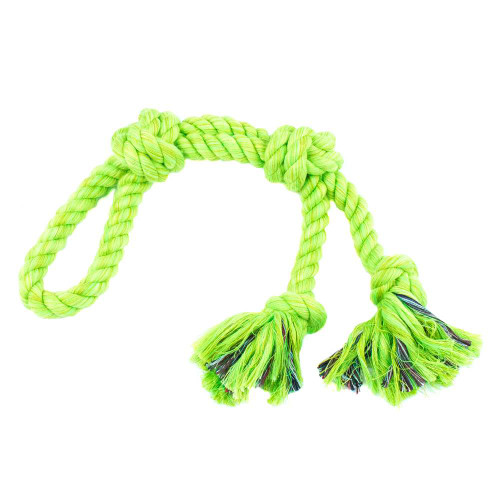 Large Looped Rope Tug Toy - Lime Green