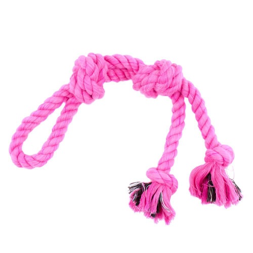 Large Looped Rope Tug Toy - Hot Pink