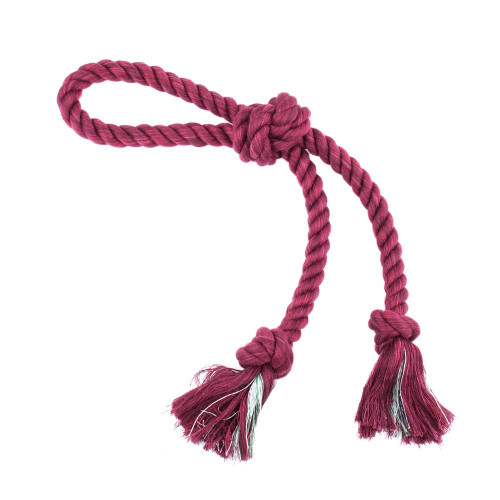 Small Looped Rope Tug Toy - Burgandy