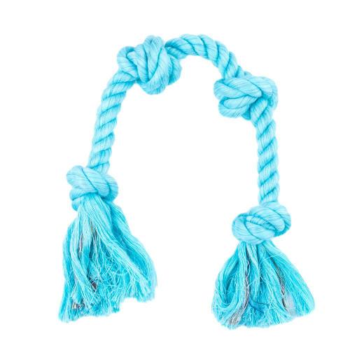 Large Knotted Rope Tug Toy - Aqua