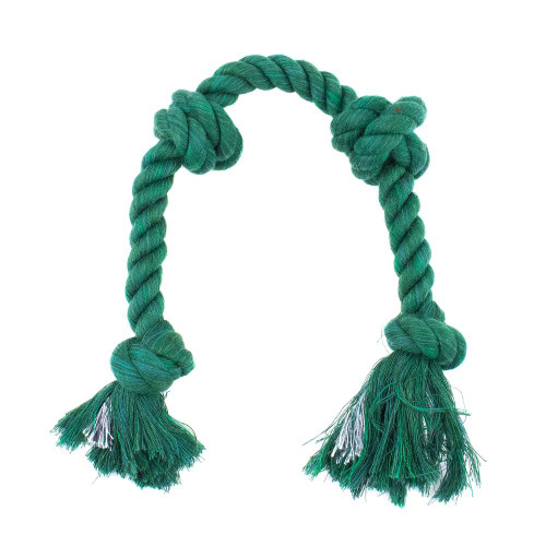 Large Knotted Rope Tug Toy - Green