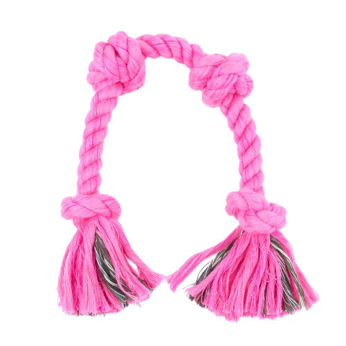 Large Knotted Rope Tug Toy - Hot Pink