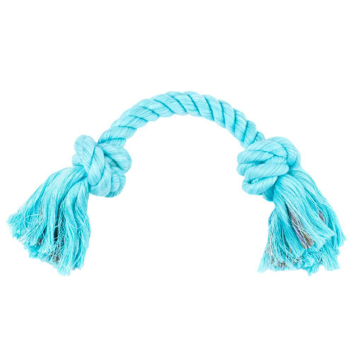Small Knotted Rope Tug Toy - Aqua
