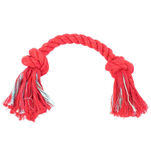 Small Knotted Rope Tug Toy - Red