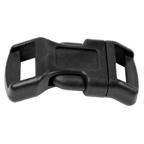 "Contoured Single-Bar Buckle - 1/2"" - Black"