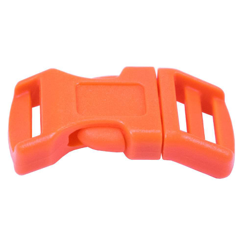 "Contoured Double-Bar Buckle - 1/2"" - Orange"
