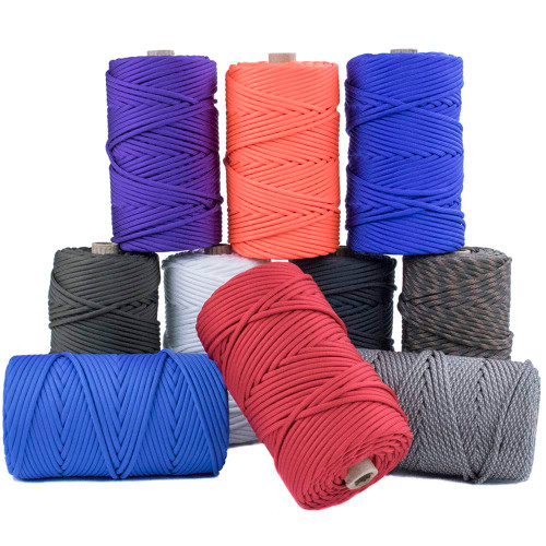 550 Paracord 300ft Tubes - Various Colors