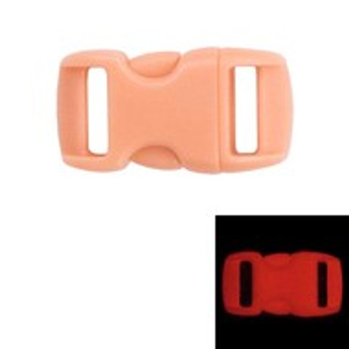 Contoured Side Release Buckles 3/8 in Glow Orange