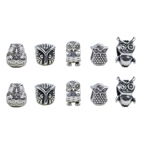 10 Pack Miscellaneous Beads - Owls