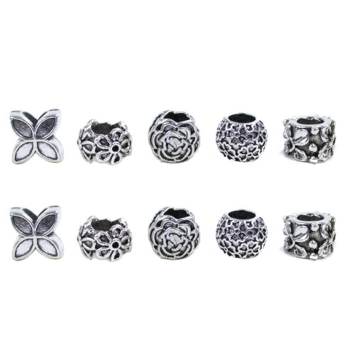 10 Pack Miscellaneous Beads - Flowers