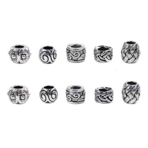 10 Pack Miscellaneous Beads - Swirls