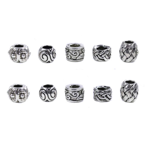 10 Pack Miscellaneous Beads - Swirls