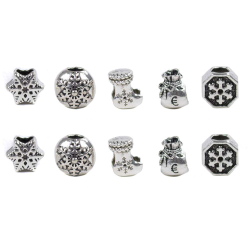 10 Pack Miscellaneous Beads - Winter