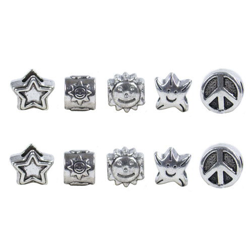 10 Pack Miscellaneous Beads - Happy