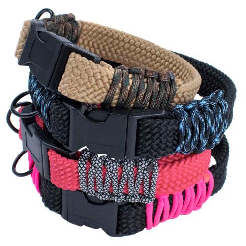 Flat Braid Rope Dog Collar Kits - Multiple Colors
