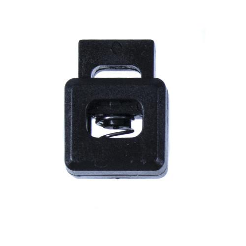 Cube Shape Cord Lock - Black