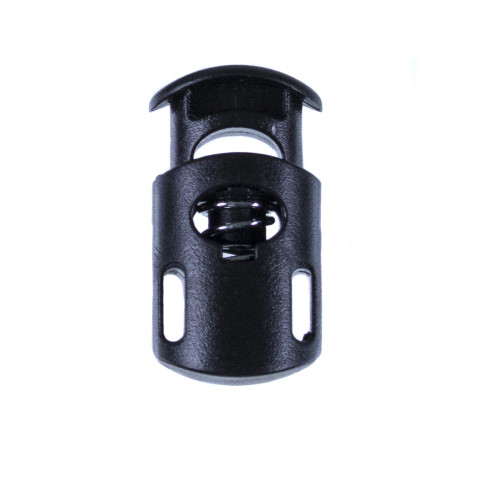 Dual Slot Cord Lock - Black