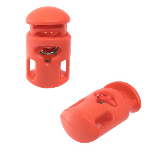 Dual Slot Cord Lock - Orange