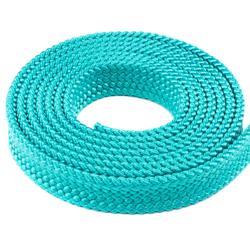 PolyPro 1in Flat Braid Rope - Teal