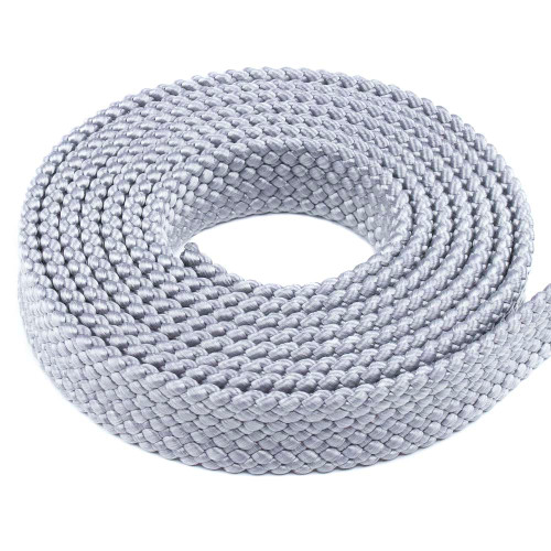 PolyPro 1in Flat Braid Rope - Silver Gray