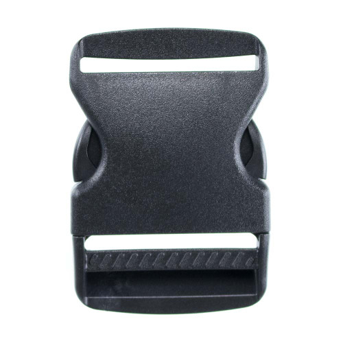 Flat Black Plastic Side-Release Buckle - 2in