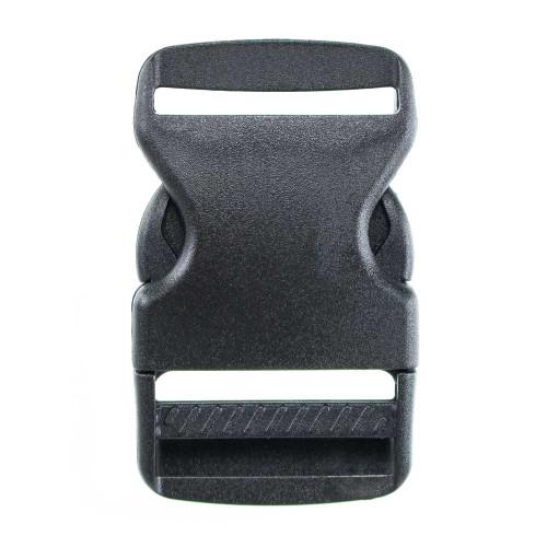 Flat Black Plastic Side-Release Buckle - 1.5in