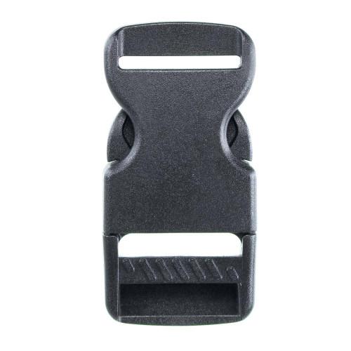 Flat Black Plastic Side-Release Buckle - 1in
