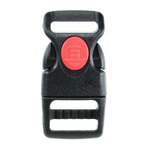 Curved Black Side Center Lock Buckle 5/8in