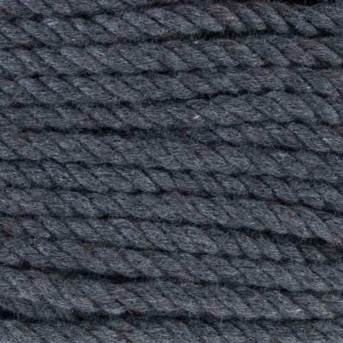 3-Strand Twisted Cotton 1/4 inch Rope - Dark Gray
