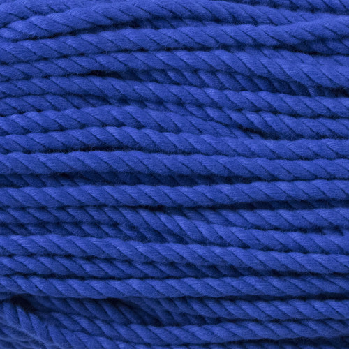 3-Strand Twisted Cotton 1/4 inch Rope - Royal Blue