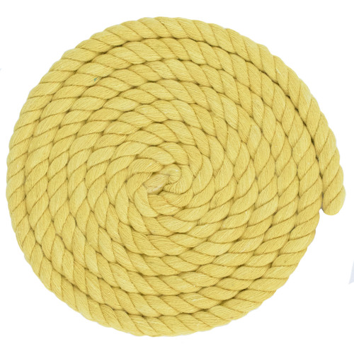 1/2 Inch Twisted Cotton Rope - Yellow