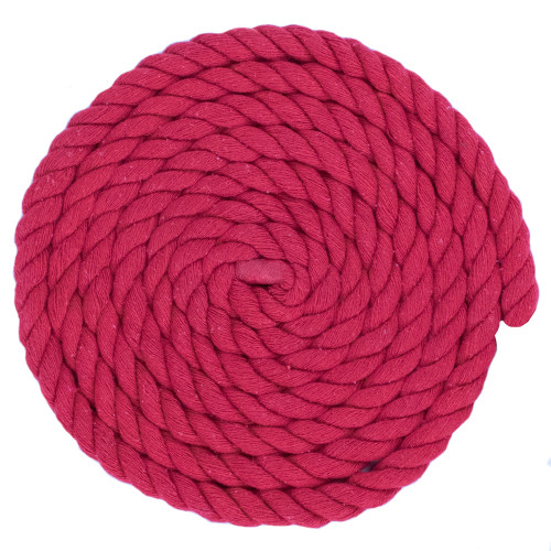 1/2 Inch Twisted Cotton Rope - Red
