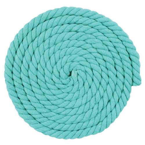 1/2 Inch Twisted Cotton Rope - Light blue