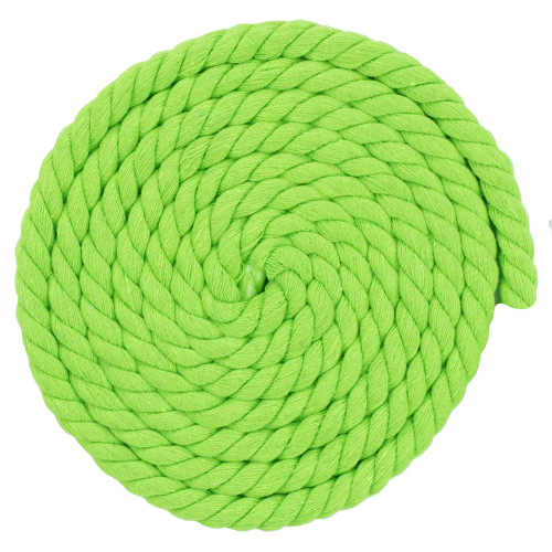 1/2 Inch Twisted Cotton Rope - Winder Green