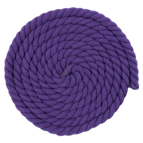 1/2 Inch Twisted Cotton Rope - Purple